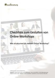 Checkliste zum Gestalten von Online Workshops